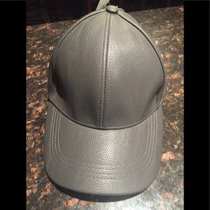 D&Y black/dark grey imitation leather cap Unisex